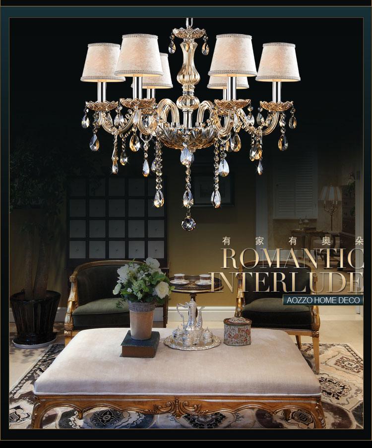 【奥朵】欧式吊灯复古奢华水晶灯客厅灯具餐厅灯卧