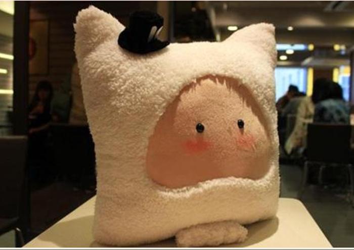 十二星座抱枕 创意玩偶 布娃娃 可爱公仔 巨蟹座午休生日礼物(深褐色)
