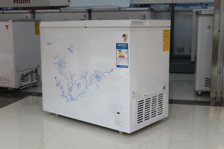 海尔/haierfcd-161xt大冷冻小冷藏双温卧式冰柜家用冷柜【第三方物流