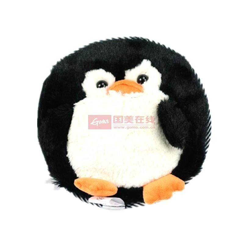 电极式3d毛绒卡通电热水袋--企鹅图片展示-国美