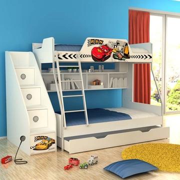 酷漫居迪士尼经典形象高低床(不含梯柜,拖箱)(汽车速度)
