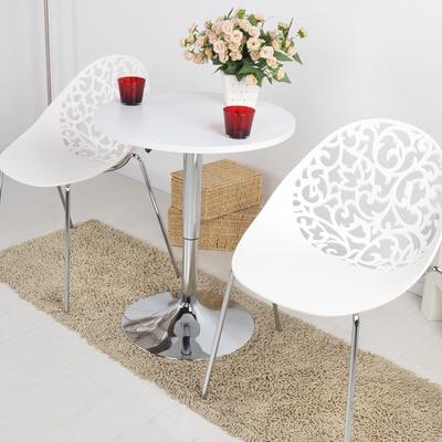 【黑白调】家具精品馆茶几升降白木简约时尚咖啡桌