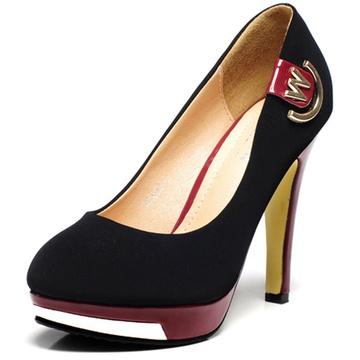 GKT2013新款v电缆鱼嘴鞋电缆时尚女水泥高钢筋单鞋欧美维纶管图片
