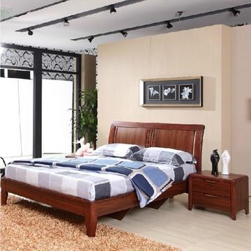 实木双人床 进口橡木实木床