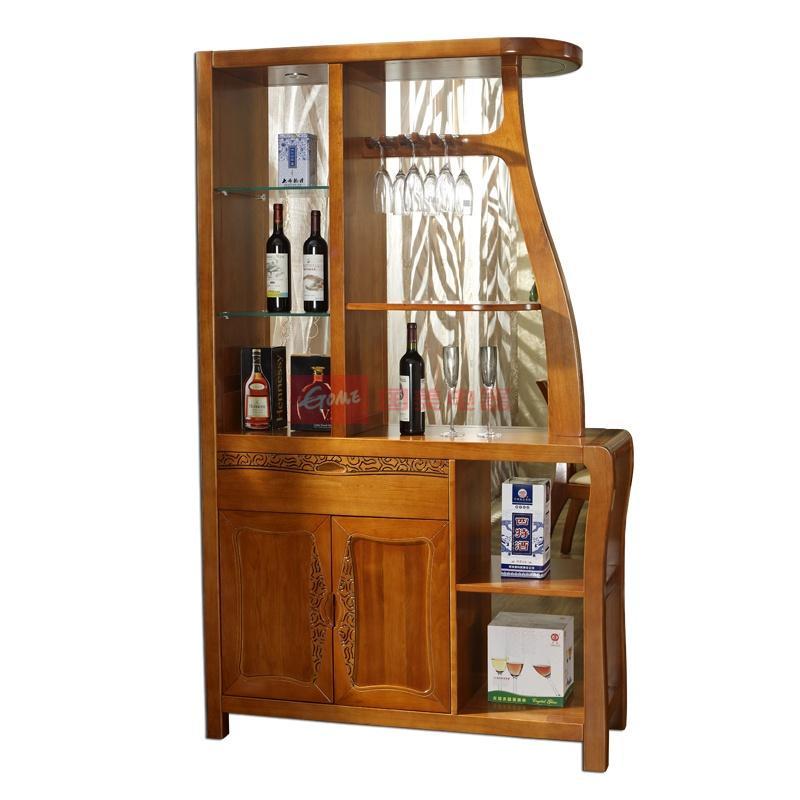 东南亚风格新中式纯实木楸木间厅柜/展示柜