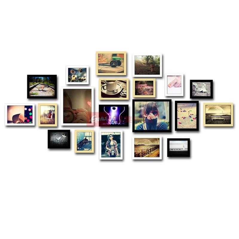 20框精美照片墙 欧式创意组合相框墙毕业照相片墙(三色)