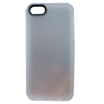 贝币(bb)苹果5手机套 手机壳 多彩边框半透明外壳 双色pc(灰色 0002)