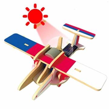 模型玩具 若态科技 木质拼装/拼插 科普 太阳能飞机模型蜻蜓p260