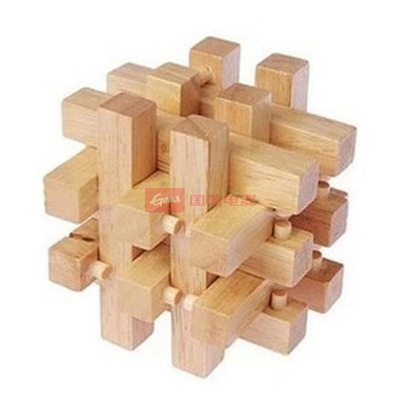 元智 木制玩具 十八罗汉柱 十八根锁 十八根孔明锁智力解锁