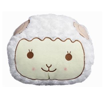 超粉嫩可爱羊羔 多利羊立体圆型 手捂/抱枕 暖手捂 生日礼物(白色)