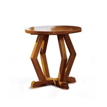 东方韵味客厅实木圆茶几