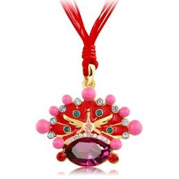 子羽原创主题中国风饰品婚纱配饰新娘水晶项链采用施华洛世奇元素