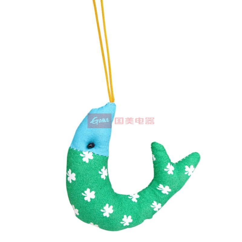 迷你布艺小鱼挂件 可爱挂饰手机链 年年有余布偶吊饰(绿色)