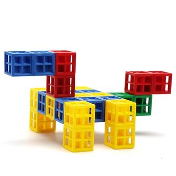 晨风正品儿童益智创意玩具塑料积木方块拼搭万能拼插