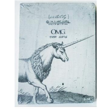 日照鑫 复古动物素描裸装笔记本日记涂鸦本子 空白内页独角兽鸟马 一