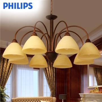 飞利浦灯具灯饰柏蕴八头吊灯60079时尚现代简约客厅