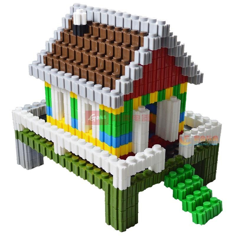 万能百变积木拼插3d立体拼图儿童益智桌面玩具乐高式