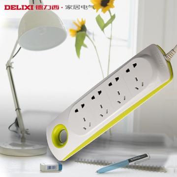 德力西开关插座高端接线板排插移动式电源转换器炫彩光环系列(四位)