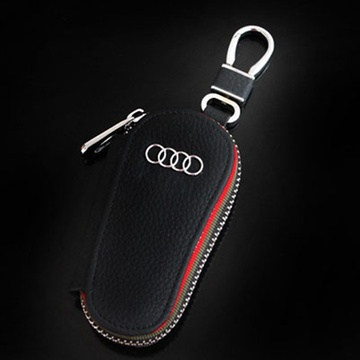 思卡华汽车真皮钥匙包 宝马 奔驰 奥迪 凯迪拉克 丰田 现代 大众(黑色