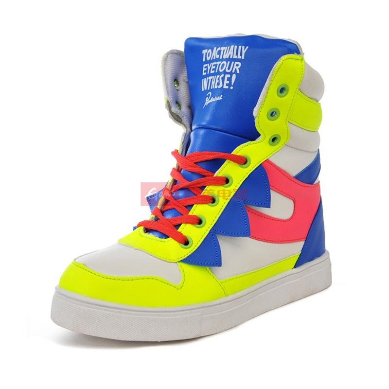 木易王子 新款女士休闲板鞋 时尚潮流运动鞋 色彩高帮