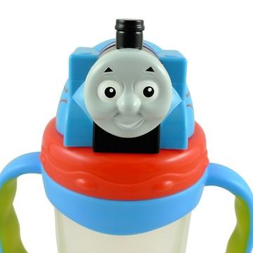托马斯儿童水壶3d火车头双柄学饮杯吸管水杯防漏保温壶(3d双柄水壶(小