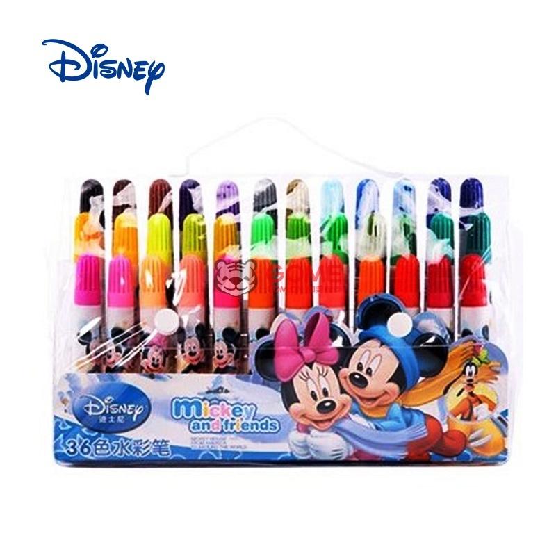 迪士尼 联众 水彩笔 24色 小学生 绘画用品 dm0432(蓝色)