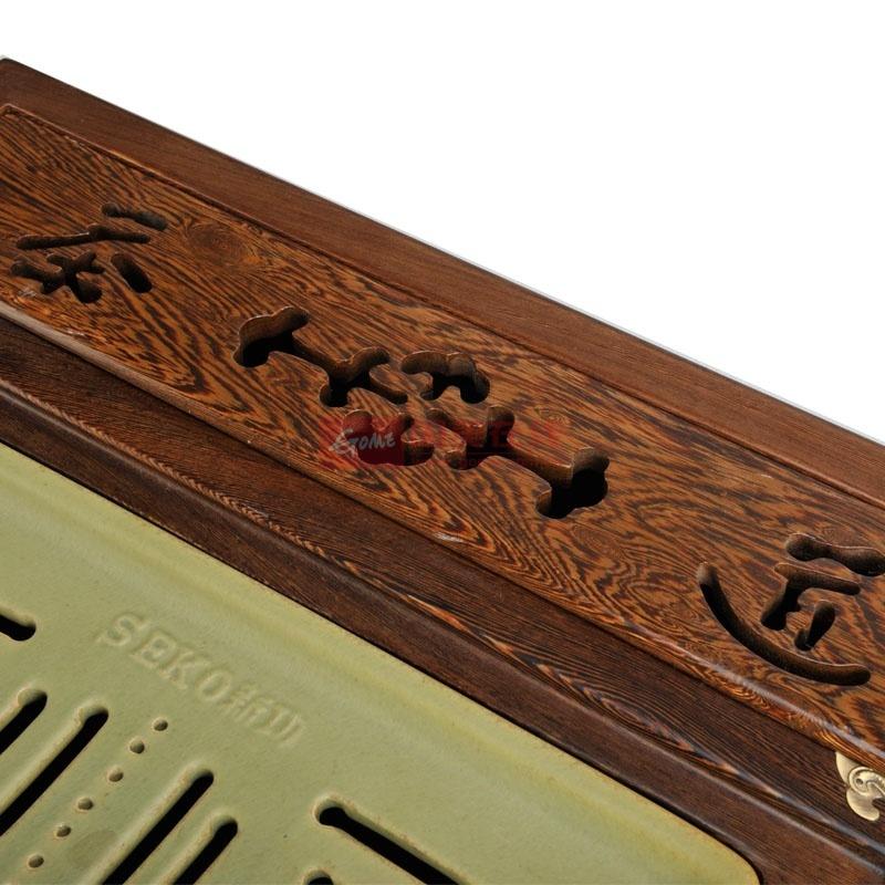 鸡翅木实木电磁炉组合茶具套装