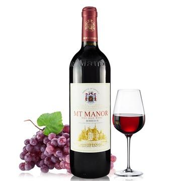 法国原瓶进口干红葡萄酒 蒙图庄园aoc级波尔多产区 珍藏特酿干红葡萄