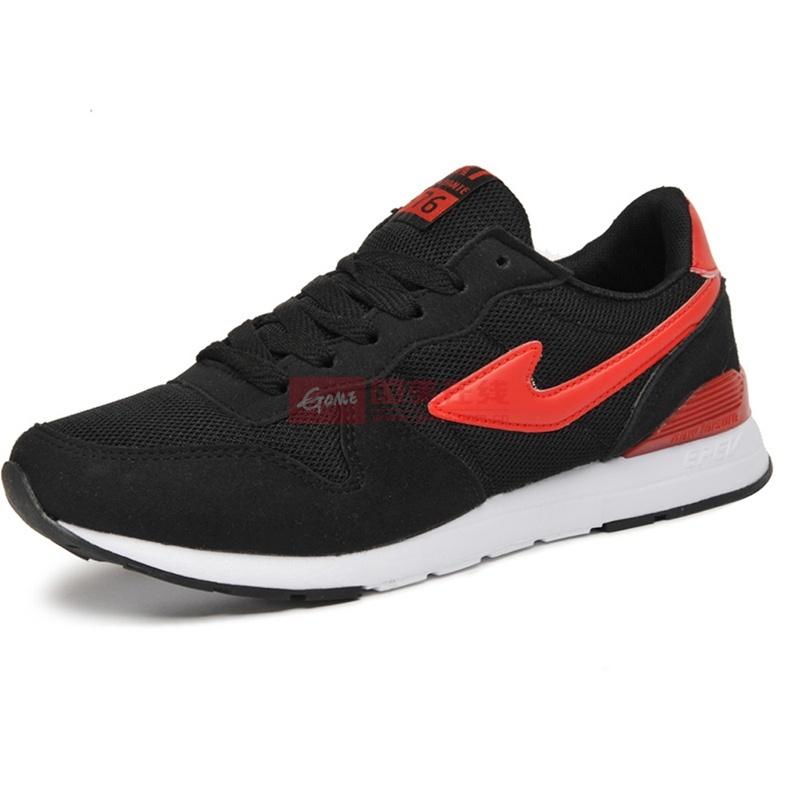 木易王子 新款网鞋男运动休闲鞋 英伦潮鞋男款透气板鞋5047(黑红 39)