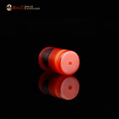 老山 精品天然缠丝红玛瑙直筒 散珠 diy天然饰品手工串珠材料