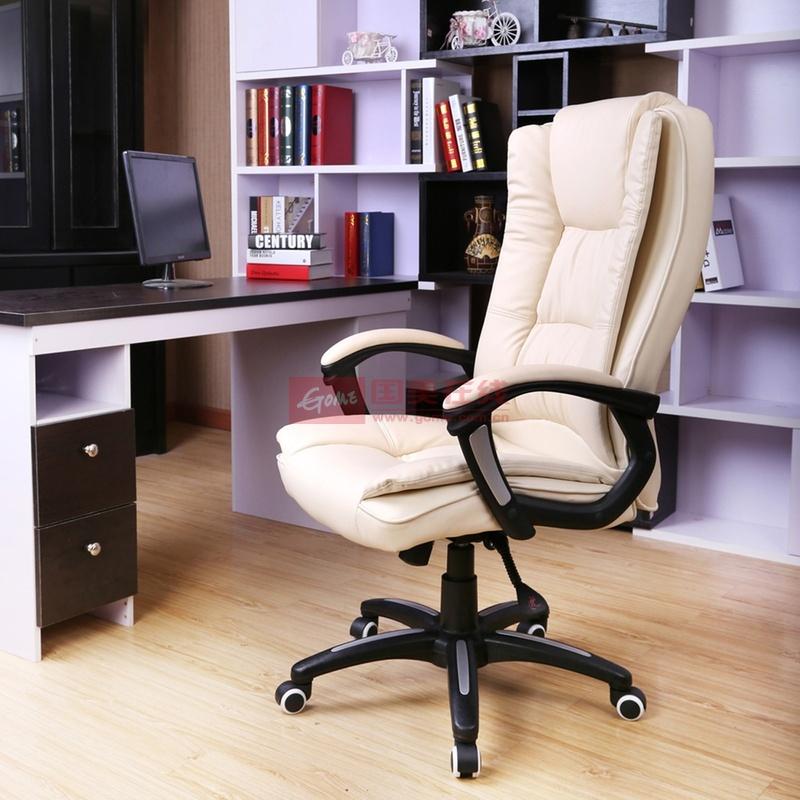 择木宜居 家用pu皮艺电脑椅子办公椅 可后仰转椅老板椅凳子逍遥定位