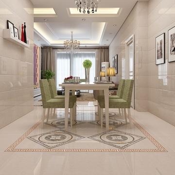 楼兰瓷砖 全抛釉拼花地板砖餐厅客厅地砖600