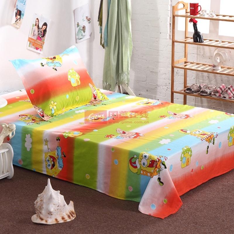 晶丽莱家纺 可爱儿童 全棉床单单品 宿舍单人学生纯棉