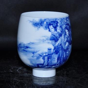 淘瓷缘景德镇名家金宏霞手绘青花瓷器茶具品杯单杯杯