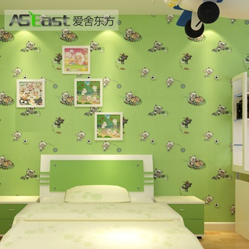 爱舍东方 无纺布墙纸环保 男女孩卧室儿童房墙纸 可爱