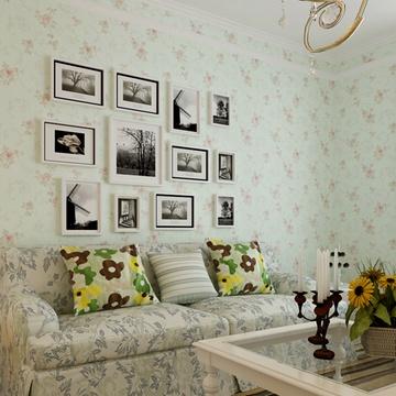 旗航壁纸浪漫田园风环保无纺布壁纸卧室客厅电视背景墙满铺墙纸gmt-a