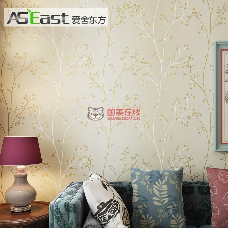 【图】爱舍东方壁纸 简约清新树木环保墙纸