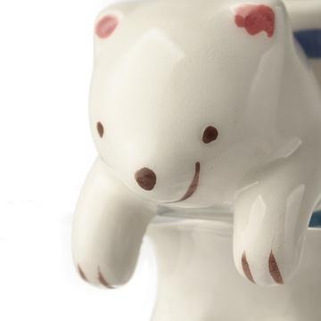 趣玩 极地杯客 动物尾巴吸水桌面迷你小植栽(北极熊)