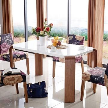 思巧餐桌 高端北欧实木餐桌椅组合