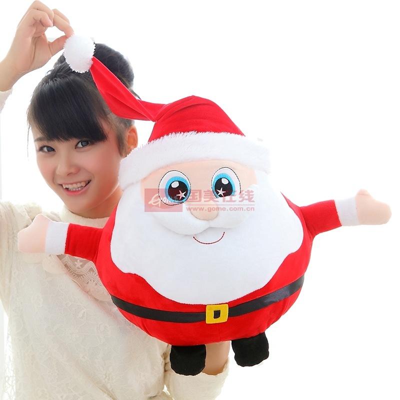 【恋儿宝贝如图毛绒/布艺圣诞老人20cm图片】卡通可爱
