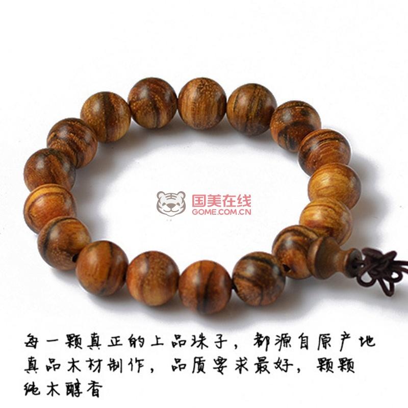 再兴玉斋贵族香木 印尼花奇楠香檀木手链1.2-2.5cm(20mm)