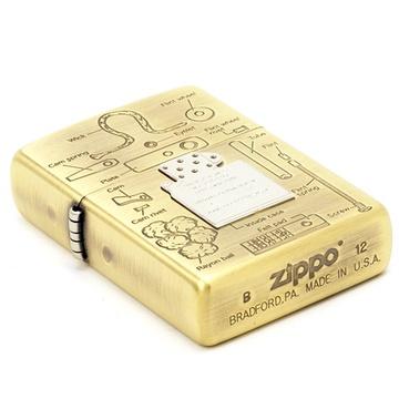 芝宝zippo打火机 金色内胆结构图