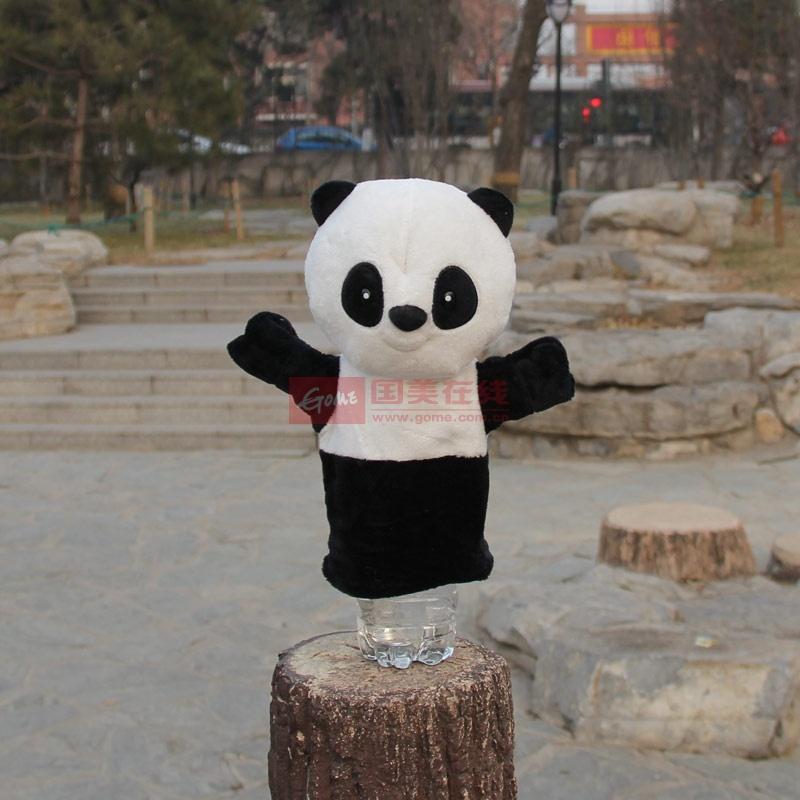 刺猬大象手套玩偶森林之王狮子大灰狼熊大熊二大黄鸭儿童礼物(熊猫)