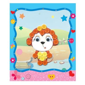 儿童手工制作扣子画 幼儿园手工 diy粘贴画 手工材料包 ef25337(猴子)