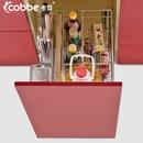 卡贝拉篮304不锈钢橱柜拉篮 阻尼厨房橱柜调味篮 调味架(400柜体细边不锈钢调味篮)