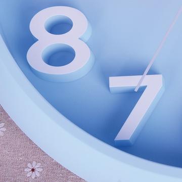 糖果色3d立体数字时尚创意钟表简约石英钟hw23(蓝色