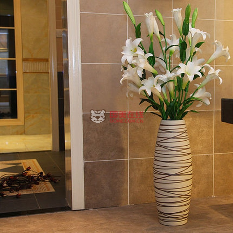 兆宏陶瓷 软装 现代欧式客厅落地大花瓶装饰品工艺品花插家饰摆件