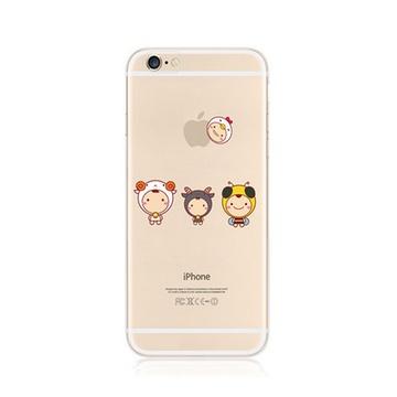 7寸手机壳苹果6手机壳保护套新款超薄卡通外壳硅胶壳软潮(可爱小羊)