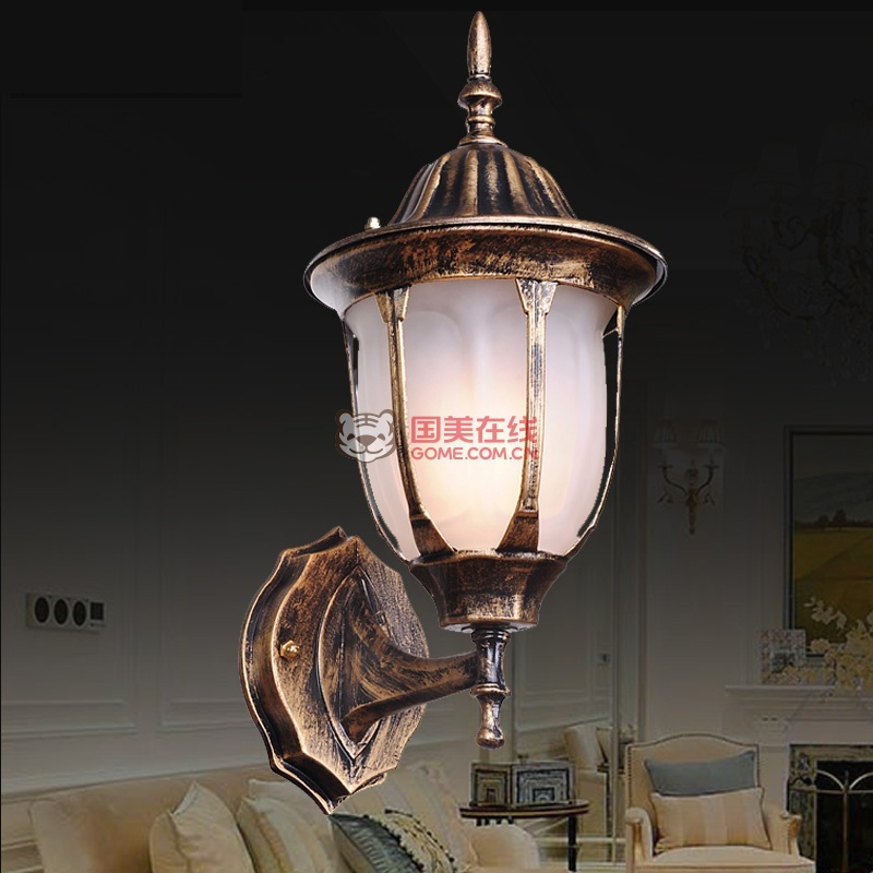 欧式壁灯复古室外阳台防水户外墙灯具楼梯灯005(005磨砂)