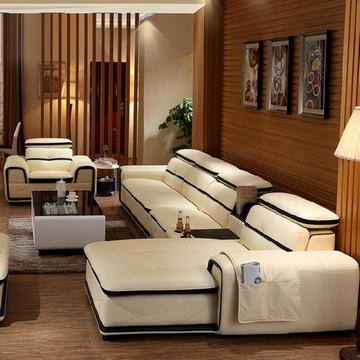 梦玛尼时尚沙发客厅家具高档搭配进口真皮中厚皮